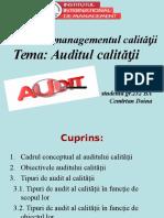 Proiect la managementul calităƫii.ppt