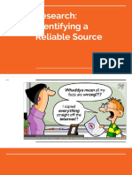 identifying a reliable source - for website