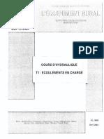 Cours d'Hydraulique Écoulements en Charge Av.2003