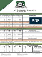 Cronograma Períodos Académicos 2017