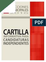 1 Cartilla Informativa Candidaturas Independientes 2016