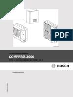 Bosch Compress 3000 Luft-Vatten Installationsanvisning