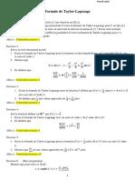 Exercices Corriges Formule de Taylor Lagrange