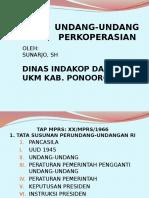 Undang-undang Perkoperasian Oleh Sunarjo Sh
