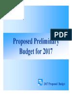 Preliminary 2017 Budget Presentation November 14th