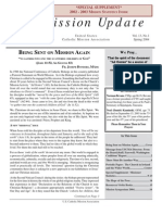Spring 2004 Mission Update Newsletter - Catholic Mission Association