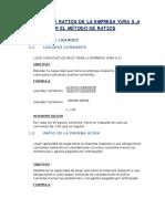 Análisis de Ratios de La Empresa Yura s