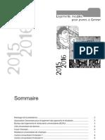 Brochure 2015-2016 Logements Meublés