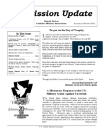 Autumn-Winter 2001 Mission Update Newsletter - Catholic Mission Association