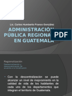 Administracion Publica Regional en Guatemala
