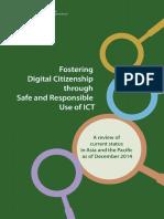 UNESCO. (2015). Fostering Digital Citizenship Through Safe and Responsible Use of ICT. Bangkok UNESCO