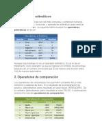 Operadores en Excel Exceltotal