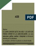 Area Geoestadistica Básica (AGEB) - INEGI