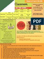 curriculum plan newsletter