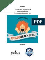 Bases Lanzamiento Juegos Usach 2016