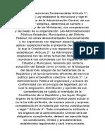 TITULO I Disposiciones Fundamentales Artículo 1