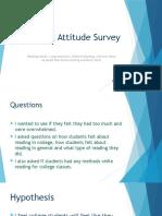 reading attitude survey