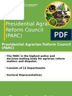 Presidential Agrarian Reform Council (PARC) Presentation