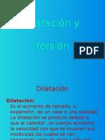 Dilatación y Torsion