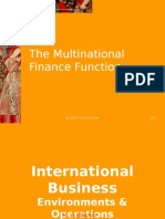 Multinational Finance Function
