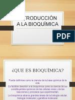 Introducciòn a La Bioquìmica