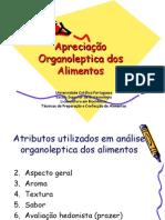 5 - Apreciação organoleptica dos alimentos