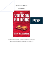 The Vatican Billions by Avro Manhattan