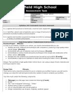 assessment task template yr 9