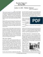 Spring 2002 Periodic Newsletter - Catholic Mission Association