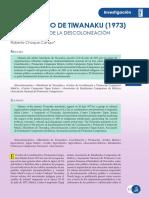 a04 El Manifiesto de Tiwanaku 1973