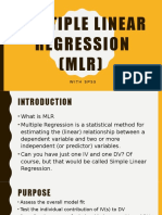 Multiple Linear Regression (MLR)