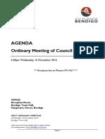City of Greater Bendigo Council Meeting Agenda November 16 2016