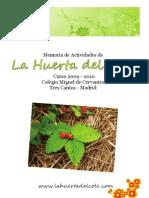 Memoria - 2009-2010 La Huerta Del Cole
