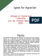 CASE DIGEST Arzaga v Copias and Calandria