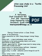 Presentation on Energy Conservation Case Study Presented at KSR