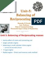 Balancing of reciprocating masses