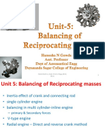 Balancing of reciprocating masses