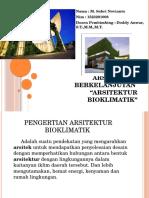 Arsitektur Berkelanjutan BIOKLIMATIK