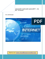 Internet Fundamentals and Web Tools Ict-2