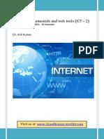Internet Fundamentals and Web Tools Ict-2