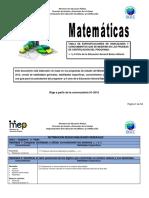 Matematica I y II Ciclo 2016