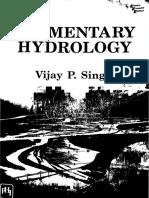 Elementary Hydrology V P Singh