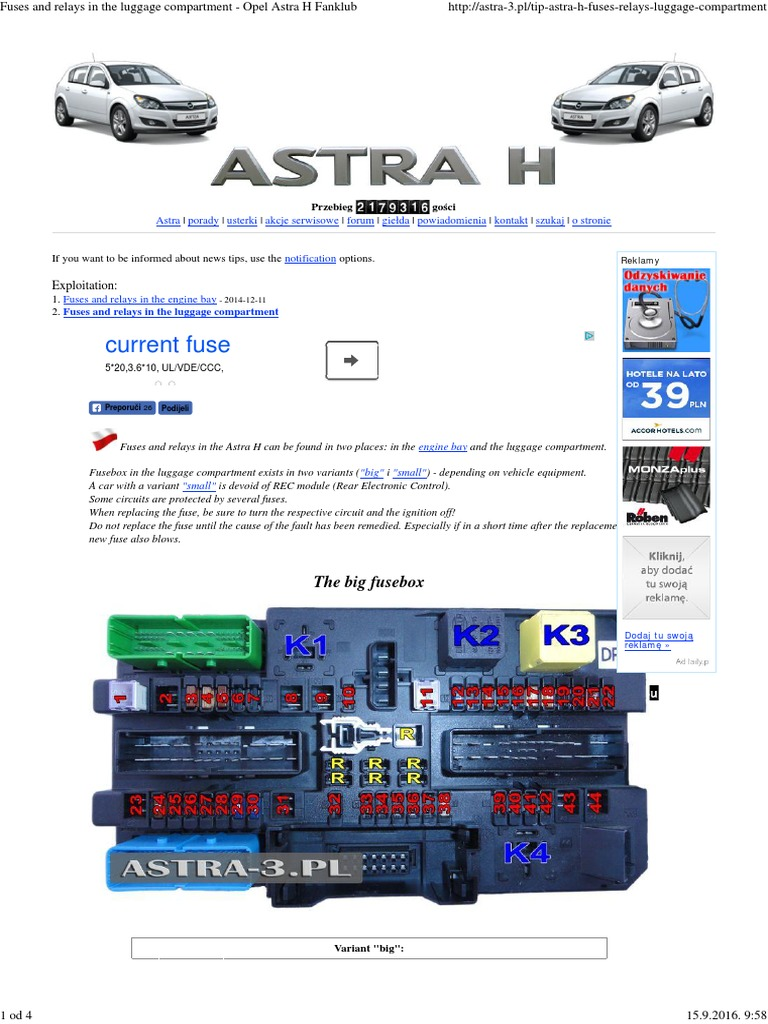 Astra Mk4 Fuse Box Auto Electrical Wiring Diagram Van Opel H