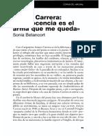 Arturo Carrera La Inocencia Es El Arma Que Me Queda