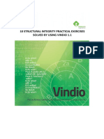 10 Structural Integrity Practical Exercises Solved by Using Vindio 1.1