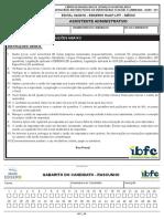 Ibfc 68 Assistente Administrativo