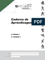 Caderno de Aprendizagens Modulo 1 Unidade 7