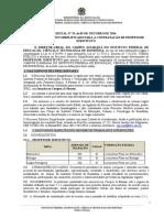 Edital Nº 33 -2016 - Processo Seletivo Para Professor Substituto - Matemática, Biologia, Portugues