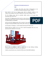 Method Statement for Installation of Firefighting Pump Set