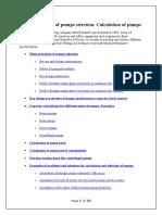 Main Principles of Pumps Selection